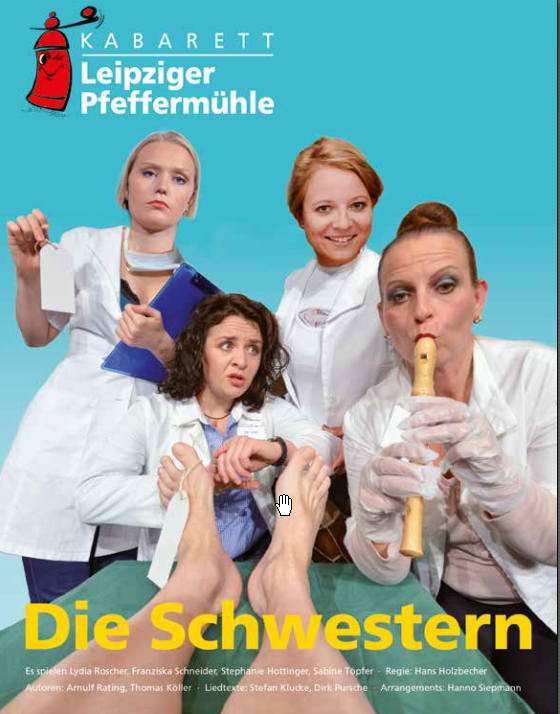 Die Schwestern - Kabarett Leipziger Pfeffermühle. Am 14.09.2017 in der Zehntscheune in Gemünda